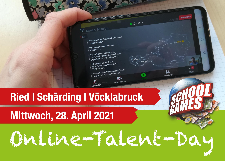 Online-Talent-Day Ried, Schärding, Vöcklabruck
