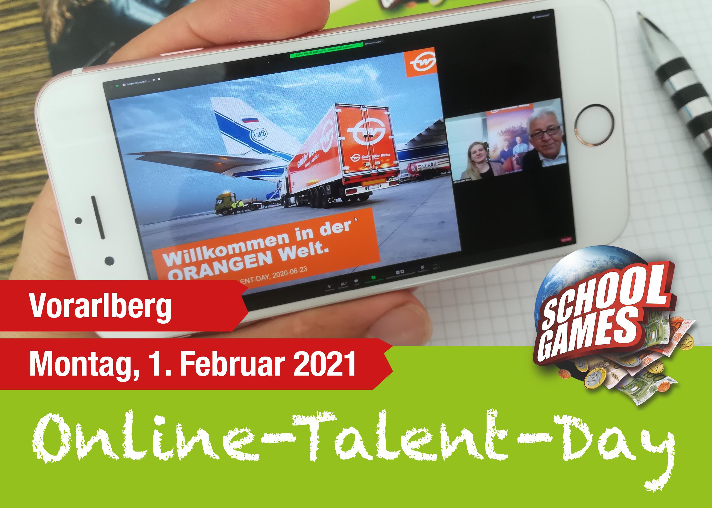 Online-Talent-Day Vorarlberg am 1.Februar